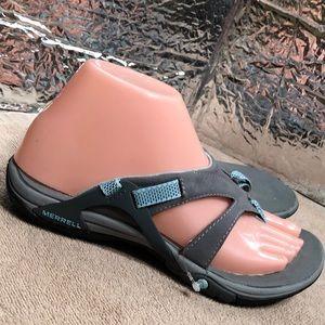 MERRELL Azura Gray (N51a)J65276 Thong Sandals sz 6